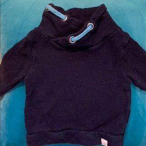 Loose Pique Organic Cotton Baby Sweatshirt Navy 💙